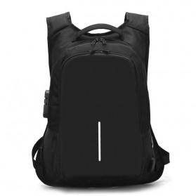 Tas Ransel Anti Maling dengan USB Port Charging & Earphone - Black
