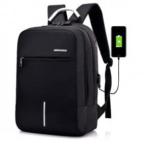 Axzhixing Tas Ransel Laptop Cross Border Security Lock dengan USB Charger Port - Black