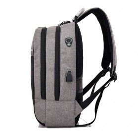 Axzhixing Tas Ransel Laptop Cross Border Security Lock dengan USB Charger Port - Light Gray - 2