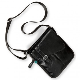 Tas Selempang Pria Messenger Bag Fashion Bahan Kulit - K7745 - Black