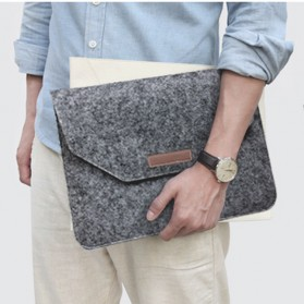 Sleeve Case Wool untuk Laptop 13 Inch - Dark Gray