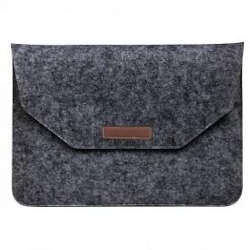 LEMONMAN Sleeve Case Wool untuk Laptop 15 Inch - BAG29 - Dark Gray
