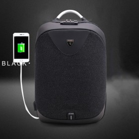 Arctic Hunter Tas Ransel Security Lock dengan USB Charger Port - B00208 - Black