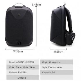 Arctic Hunter Tas Ransel Security Lock dengan USB Charger Port - B00208 - Black - 3