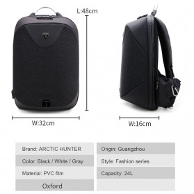 Arctic Hunter Tas Ransel Security Lock dengan USB Charger Port - B00208 - Dark Gray - 3