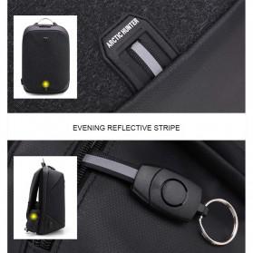 Arctic Hunter Tas Ransel USB Charger Port dengan Digital Storage Board - B00208 - Black - 4
