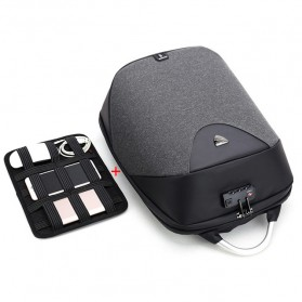 Arctic Hunter Tas Ransel USB Charger Port dengan Digital Storage Board - B00208 - Dark Gray