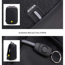 Arctic Hunter Tas Ransel USB Charger Port dengan Digital Storage Board - B00208 - Dark Gray - 4