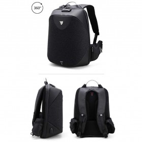 Arctic Hunter Tas Ransel USB Charger Port dengan Digital Storage Board - B00208 - Light Gray - 2