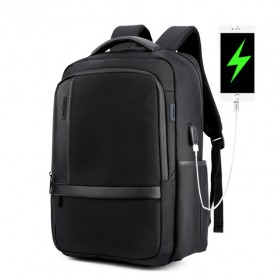 Arctic Hunter Tas Ransel Kasual dengan USB Charger Port - B00120N - Black