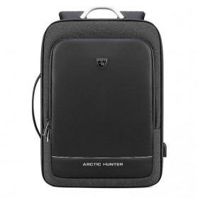 Arctic Hunter Tas Ransel Laptop dengan USB Charger Port - B00227 - Black