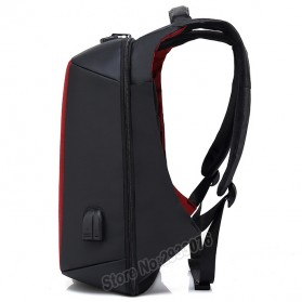 BAIBU Tas Ransel Anti Maling Coded Lock dengan USB Charger Port + AUX Port - ZL1960 - Black - 3