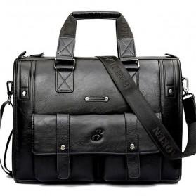 Messenger Bag / Tas Selempang - BAILLR Tas Jinjing Selempang Kulit Pria - Size Small - Black