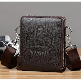Rhodey Tas Selempang Pria Messenger Bag Bahan Kulit - HB-031 - Black - 2