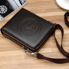 Rhodey Tas Selempang Pria Messenger Bag Bahan Kulit - HB-031 - Black - 3
