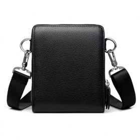 Rhodey Tas Selempang Pria Messenger Bag Bahan Kulit - HB-031 - Black - 4