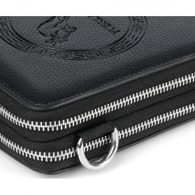 Rhodey Tas Selempang Pria Messenger Bag Bahan Kulit - HB-031 - Black - 5