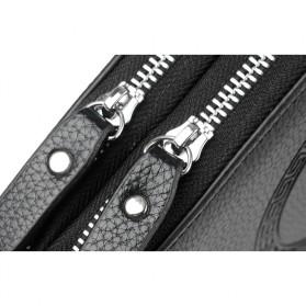 Rhodey Tas Selempang Pria Messenger Bag Bahan Kulit - HB-031 - Black - 6