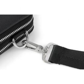 Rhodey Tas Selempang Pria Messenger Bag Bahan Kulit - HB-031 - Black - 7