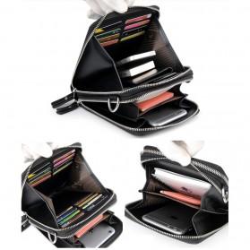 Rhodey Tas Selempang Pria Messenger Bag Bahan Kulit - HB-031 - Black - 8