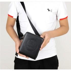 Rhodey Tas Selempang Pria Messenger Bag Bahan Kulit - HB-031 - Black - 9