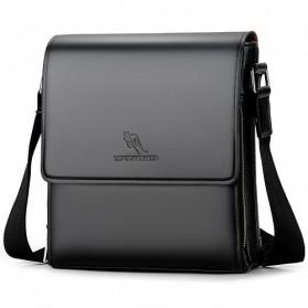 YUESKANGAROO Tas Selempang Pria Messenger Bag Bahan Kulit - HA-058 - Black