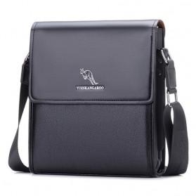 YUESKANGAROO Tas Selempang Pria Messenger Bag Bahan Kulit - HA-012 - Black