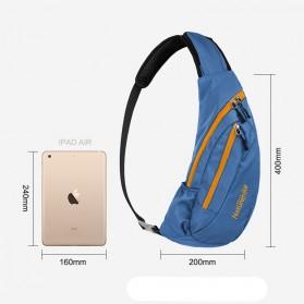 NatureHike Tas Selempang Pria Crossbody Waistbag - NHX23X008 - Blue - 5