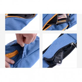 NatureHike Tas Selempang Pria Crossbody Waistbag - NHX23X008 - Blue - 7
