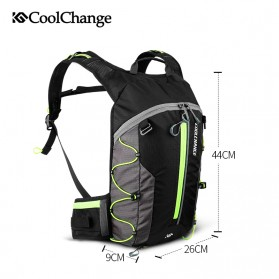 CoolChange Tas Ransel Gunung Hiking Waterproof 10L - 03010 - Green - 3