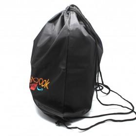Jakartanotebook Tas Ransel Serut Sport Drawstring Bag - 210T - Black - 2