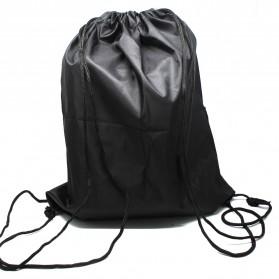 Jakartanotebook Tas Ransel Serut Sport Drawstring Bag - 210T - Black - 3