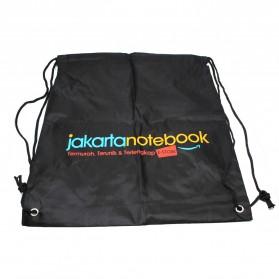 Jakartanotebook Tas Ransel Serut Sport Drawstring Bag - 210T - Black - 4
