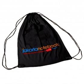 Jakartanotebook Tas Ransel Serut Sport Drawstring Bag - 210T - Black - 5