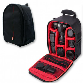 XINQUAN Tas Kamera DSLR Waterproof - BX-70 - Black/Red