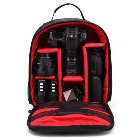 XINQUAN Tas Kamera DSLR Waterproof - BX-70 - Black/Red - 2