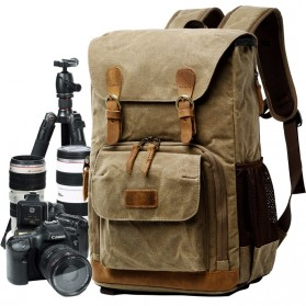 Advicho Tas Selempang Kamera DSLR Batik Canvas - AC-279 - Khaki - 2