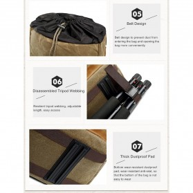 Advicho Tas Selempang Kamera DSLR Batik Canvas - AC-279 - Khaki - 10