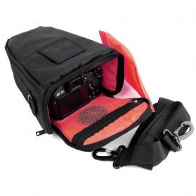 YUANK Tas Selempang Kamera DSLR for Canon Nikon - SX61 - Black - 2