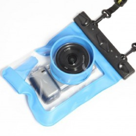 Tteoobl Waterproof Bag Case for Universal Camera 4cm Lens Type M - A-018M - Blue