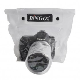 Tas Kamera & Underwater Kamera - Bingo Waterproof Bag for Camera SLR with Lens Design Diamater 8.5cm Lens Length 8cm - WP041 - WP043 - White