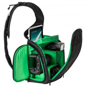 INDEPMAN Tas Kamera SLR Sling Camera DSLR Backpack Bag - A1706 - Green - 1