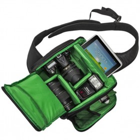 INDEPMAN Tas Kamera SLR Sling Camera DSLR Backpack Bag - A1706 - Green - 2