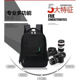 Tigernu Tas Kamera DSLR Backpack - T1333 - Black - 14