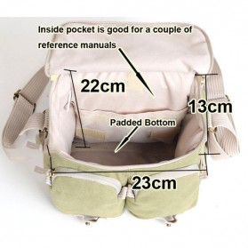 National Geographic Tas Kamera Selempang DSLR Shoulder Bag - NG2345 - Khaki - 4