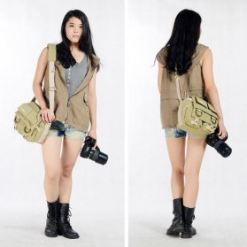 National Geographic Tas Kamera Selempang DSLR Shoulder Bag - NG2345 - Khaki - 8