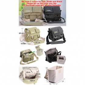 National Geographic Tas Kamera Selempang DSLR Shoulder Bag - NG2345 - Khaki - 9