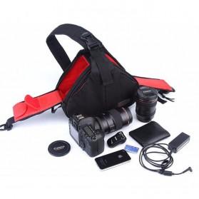 Tas Kamera Selempang dan Aksesoris Waterproof - Black - 7