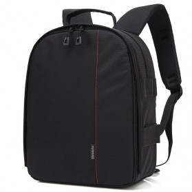 Huwang Tas Kamera DSLR Waterproof - Black/Red
