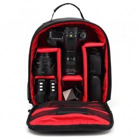 XINQUAN Tas Kamera DSLR Waterproof - Black/Red - 3